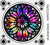 stained glass window  gothic... | Shutterstock .eps vector #449057290