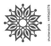 abstract flower.ornament... | Shutterstock . vector #449060578