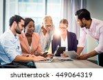 business people interacting... | Shutterstock . vector #449064319