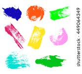 vector set of colorful... | Shutterstock .eps vector #449064349
