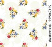 seamless floral pattern white...   Shutterstock .eps vector #449067640