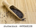 Poppy Seeds In A Wooden Spoon...