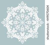 elegant white round ornament in ... | Shutterstock . vector #449070604