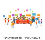 holiday or demonstration  rally....   Shutterstock .eps vector #449073676