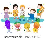 the concert of fruit and... | Shutterstock .eps vector #449074180