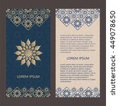 set of two islamic luxury cards.... | Shutterstock .eps vector #449078650