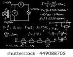 physics  electronic engineering ... | Shutterstock .eps vector #449088703