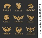 bird and eagle logo collection... | Shutterstock .eps vector #449093014