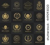 luxury logo collection design... | Shutterstock .eps vector #449093020