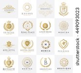luxury logo set design for... | Shutterstock .eps vector #449093023
