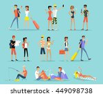 people vacation set man and... | Shutterstock . vector #449098738