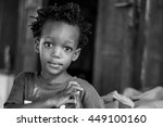 editorial use. children in... | Shutterstock . vector #449100160