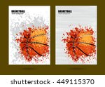vector illustration basketball  ... | Shutterstock .eps vector #449115370