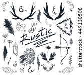 rustic design set. hand drawn... | Shutterstock .eps vector #449130508