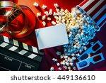 blank cinema promo card or... | Shutterstock . vector #449136610