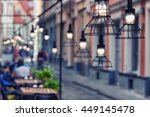beautiful design lamps over the ... | Shutterstock . vector #449145478