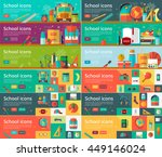 vector collection of flat... | Shutterstock .eps vector #449146024