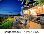 luxury house exterior with... | Shutterstock . vector #449146123