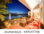luxury house exterior with... | Shutterstock . vector #449147758