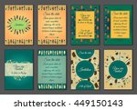 set of boho ornament... | Shutterstock .eps vector #449150143