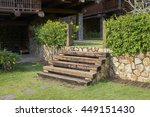 Outdoor Wooden Stair