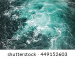 Deep Blue Stormy Sea Water...