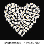 hand drawn white little daisy... | Shutterstock .eps vector #449160700