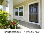 open porch with concrete floor  ... | Shutterstock . vector #449169769