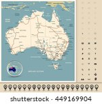 australia   highly detailed... | Shutterstock .eps vector #449169904
