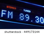 fm tuner radio display. stereo... | Shutterstock . vector #449173144