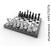 3d rendering chess | Shutterstock . vector #449175376