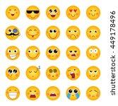 smile  emotions  vector   Shutterstock .eps vector #449178496