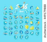 rio 2016 olympic games in... | Shutterstock .eps vector #449179888