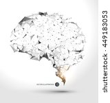 wires from the point of brain... | Shutterstock .eps vector #449183053