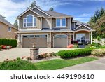home exterior with garage and... | Shutterstock . vector #449190610