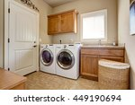 laundry room with washer and... | Shutterstock . vector #449190694