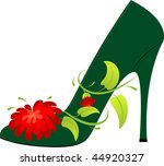 female shoe on the high heel ... | Shutterstock .eps vector #44920327