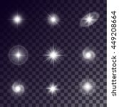 vector starlight effects. white ... | Shutterstock .eps vector #449208664