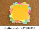 cork board with post it   Shutterstock . vector #449209333