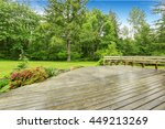view of wooden walkout deck... | Shutterstock . vector #449213269