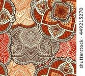 seamless pattern. vintage... | Shutterstock . vector #449215270