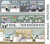 scientist working in laboratory ... | Shutterstock . vector #449227330