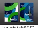 annual report cover. geometric... | Shutterstock .eps vector #449231176