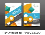 annual report cover. geometric... | Shutterstock .eps vector #449232100