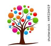 illustration of colorful... | Shutterstock .eps vector #449234419