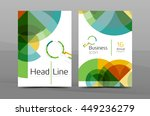 design of annual report cover...   Shutterstock .eps vector #449236279
