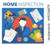 home inspection vector concept... | Shutterstock .eps vector #449236879