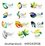 green nature leaf concept icon... | Shutterstock . vector #449243938