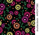 floral pattern  | Shutterstock .eps vector #449247580