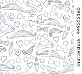 vector seamless pattern with... | Shutterstock .eps vector #449253160